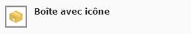 Icône Boîte avec icône
